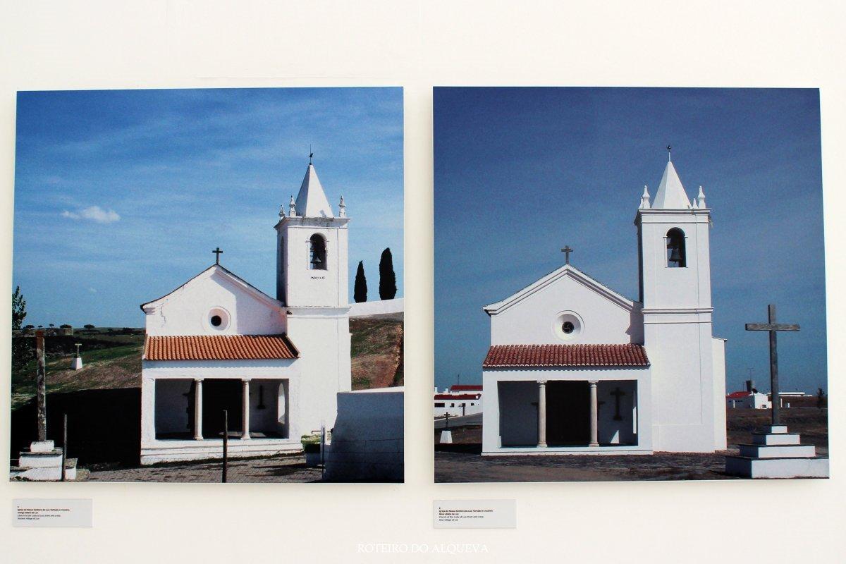A antiga Igreja da Luz e a nova construída à sua imagem